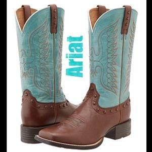 Ariat 💙 'Honor Eagle' Boots Glazed Turquoise